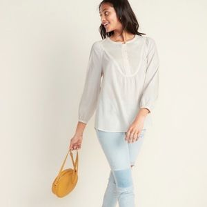 Old Navy Bib-Front Tunic Top